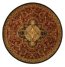 Safavieh Handmade Classic Royal Red/ Black Wool Rug (6' Round)