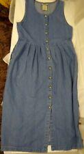 Northern Reflections Women's Size 8 Sleeveless Denim/Jean Button Down Maxi Dress