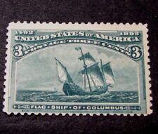 US Stamp Scott# 232 Flagship  of Columbus  1893 MH L96