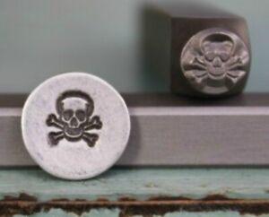 SUPPLY GUY 6mm Skull and Crossbones Metal Punch Design Stamp SGCH-35