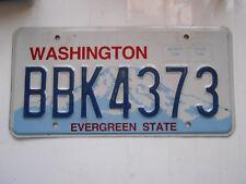plaque immatriculation  usa washington license plate old americaine 4373
