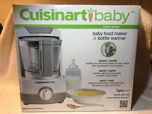 Cuisinart Baby Food Maker & Bottle Warmer, BFM-1000, Steam & Purée, New Open Box