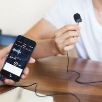 BOYA Portable 3.5mm Clip Tie Lapel Lavalier Microphone mic for Lecture Recording