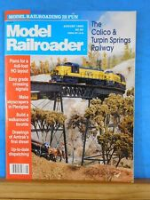 Model Railroader Magazine 1992 August Grade signal crossings Plexiglass skyscrap