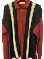 VINTAGE Sweater- Crimson & Black XL - Sopranos/Goodfellas Rockabilly Jersey Boys