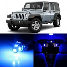 9 x Ultra Blue Interior LED Lights Package For 2007- 2017 Jeep Wrangler +TOOL