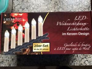 LUXARTEC LED Weihnachstbaumlichterkette 20 Kerzen 3 -NEU-