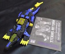 TRANSFORMERS TRANS RETURN GATORFACE DECEPTICON KROK 100% COMPLETE + MANUAL