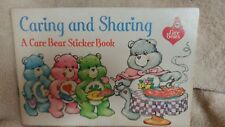 Vintage Care Bears Caring and Sharing; A Care Bear Sticker Book (Coloring) 1984