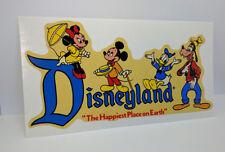 Disneyland, Mickey & Donald Vintage Style Travel Decal / Vinyl Luggage Sticker