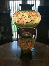Large Antique Victorian Style Gone With The Wind Electric Lamp 27-1/2� Tall 3Way