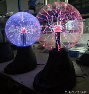 Tesla Plasma Ball Sphere Lightning Light Lamp Sound Sensor for Holiday Party Bar