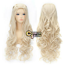 Anime for Daenerys Targaryen Dragon Princess Game of Thrones Blonde Cosplay Wig