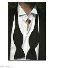 LONG BLACK SILK BOWTIE WITH INSTRUCTIONS (SELF TIE) QUALITY UK SELLER
