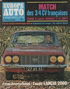 EUROPE AUTO 1970 35 LANCIA FLAVIA COUPE 2000 MEP MONTE CARLO DYANE 6 R4 SIM'4