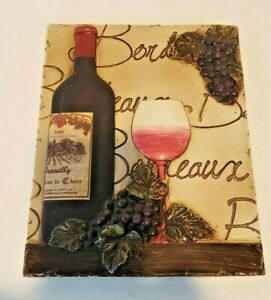 French Tasting Red Wine Merlot Ever Day Collection Wall Art Decoration