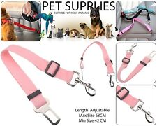 Pet Dog Car Seat Belt Safety Ajustable Harnesses Lead Restraint Clip Leash Rose