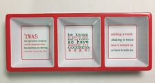 3 COMPARTMENT TRAY XMAS SAYINGS FOR DRINKING by MUD PIE #20551
