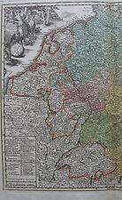 CARTE DE L'EMPIRE D'ALLEMAGNE, ORIGINALE DU XVIII ème