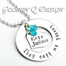 Personalised Granny Grandpa Name Necklace Birthday Christmas Gift D176