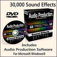 30,000 Digital Sound Effects DVD DJ Mixing Music Edit Recording Audio Software