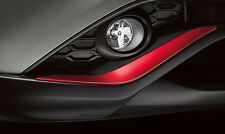 Nissan Juke Front and Rear Color Studio Red Bumper Accents OEM 2015-2017