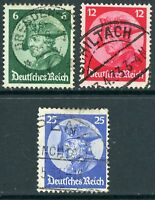 Germany 1923 Opening of Reichstag Set SG # 490-92 VFU 🔥 Z434