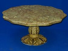 STYLISH MID CENTURY HOLLYWOOD REGENCY BILLY HAINES ERA MARBLE TOP COFFEE TABLE