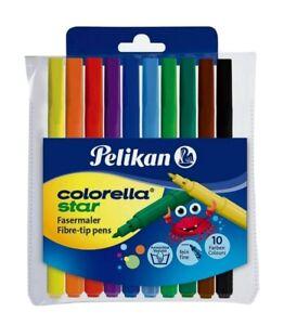 PELIKAN VERTR. Fasermaler Colorella Star 10 Farben im Etui (4012700814487)