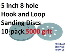 5 inch 8 hole Hook and Loop Sanding Discs 10-pack 5000 grit
