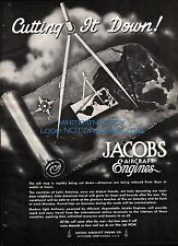 1942 WWII JACOBS Aircraft Engine AD WW II WW2 Pottstown, Pennsylvania PA