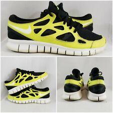 NIKE Free Run+ 2 Yellow Volt Black Mens Running 472519-013 Shoes Size 11
