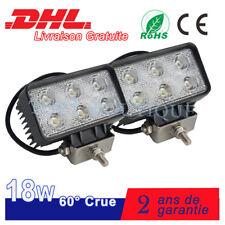 2x18W Phare de travail à LED 12V 24V Camion SUV Quad 4x4wd Pelle Remorque Lampe