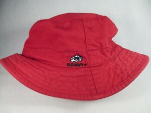 Old Navy Truck Child Size 12-24 Months Red Bucket Cap Hat Great Condition