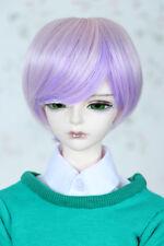 "Brand New 1/3 8-9""LUTS Pullip SD BJD Doll Wig Short Hair Purple Mix Pink"