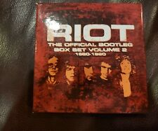 Riot The Official Bootleg Box Set Vol. 2: 1980-1990 CD - NEW FACTORY SEALED