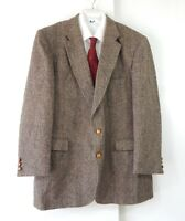 HARRIS TWEED jacket blazer sport coat 100% wool two button multi color long 48L