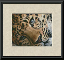 PEACEFUL LEOPARD PORTRAIT~COUNTED CROSS STITCH PATTERN ONLY