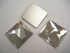 1 large swarovski asymmetric flat square stone,40mm crystal #2420
