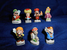 SUPER MARIO BROS. Set of 7 Mini Figurines Tiny French Porcelain FEVES NINTENDO