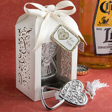 1 Heart Bottle Opener Wedding Bridal Shower Favor Spectacularly Packaged Party