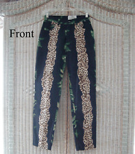 Vintage LEOPARD JEANS ~ 4 ~ Animal Print ~ BLACK & GREEN DENIM ~ Awesome!