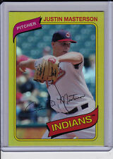 Justin Masterson 2012 Topps Archives Gold Foil Parallel Rainbow Foilboard
