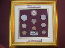 FRAMED PERSONALISED 1956 COIN SET 62nd BIRTHDAY /  ANNIVERSARY GIFT IN  2018