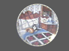 KITTY CAT COLLECTOR PLATE, Comforts of Home,Sleepyheads