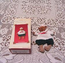 Hallmark Keepsake Ornament Grandson Fabric Sailor Bear 2002 Mib