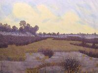 """Gordon Mortensen """"Winter Sunset"""" Hand Signed Woodcut Art Print MAKE AN OFFER"""