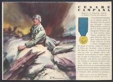 CARTOLINA Militare 1942 Medaglie d'Oro CAMPANA NUOVA (F9)