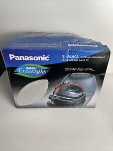 Panasonic 360 Degree Ceramic Cordless Freestyle Iron Metallic Red