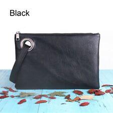 Fashion Women PU Leather Purse Clutch Envelope Shoulder Large Tote Bags Elegant Black